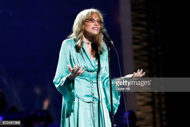 Carly Simon performs during the 2017 Tribeca Film Festival Opening Gala premiere of Clive Davis The Soundtrack of our Lives at Radio City Music Hall...