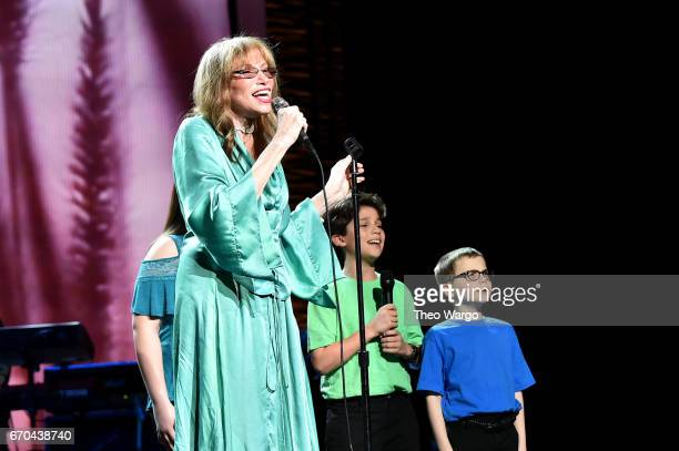 Carly Simon performs onstage during the Clive Davis The Soundtrack of Our Lives Premiere Concert during the 2017 Tribeca Film Festival at Radio City...