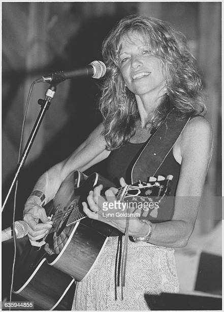 Carly Simon Playing Acoustic Guitar