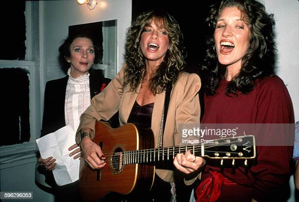 Carly Simon sister Lucy Simon singing with Judy Collins circa 1982 in New York City