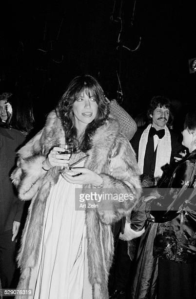 Carly Simon wearing a fur circa 1960 New York