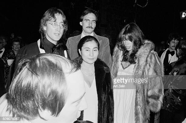 Carly Simon Yoko Ono James Taylor and John Lennon circa 1960 New York