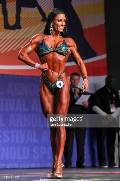 Carly StarlingHorrell competes in Figure International as part of the Arnold Sports Festival on March 2 at the Greater Columbus Convention Center in...