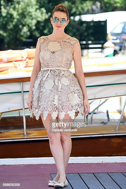 Carly Steel arrives at Lido during the 73rd Venice Film Festival on September 2 2016 in Venice Italy