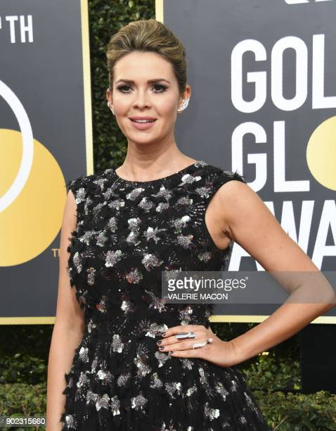 Carly Steel arrives for the 75th Golden Globe Awards on January 7 in Beverly Hills California / AFP PHOTO / VALERIE MACON