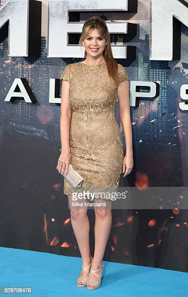Carly Steel attends a Global Fan Screening of XMen Apocalypse at BFI IMAX on May 9 2016 in London England