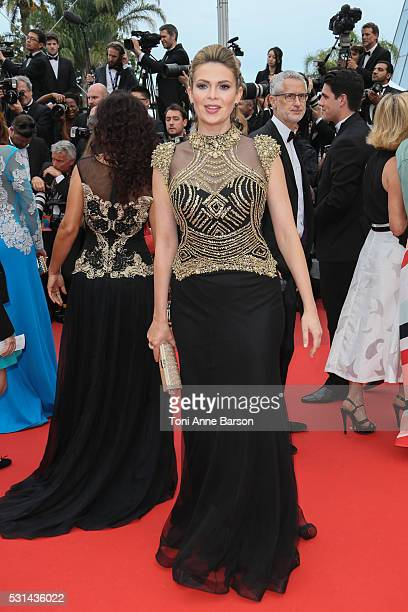Carly Steel attends a screening of The BFG at the annual 69th Cannes Film Festival at Palais des Festivals on May 14 2016 in Cannes France