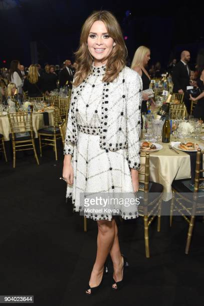 Carly Steel attends Moet Chandon celebrate The 23rd Annual Critics' Choice Awards at Barker Hangar on January 11 2018 in Santa Monica California