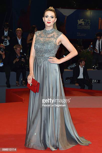 Carly Steel attends the premiere of 'Arrival' during the 73rd Venice Film Festival at Sala Grande on September 1 2016 in Venice Italy