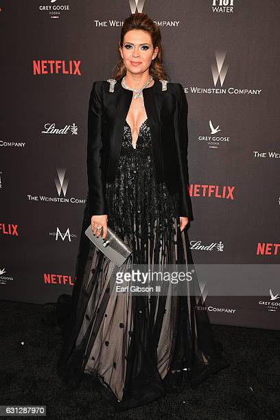 Carly Steel attends The Weinstein Company and Netflix Golden Globe Party presented with FIJI Water Grey Goose Vodka Lindt Chocolate and Moroccanoil...