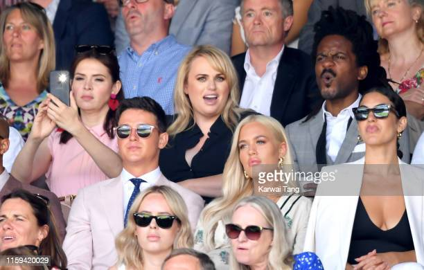 Carly Steel Rebel Wilson Sam Prince and Lottie Tomlinson attend day 1 of the Wimbledon Tennis Championships at the All England Lawn Tennis and...