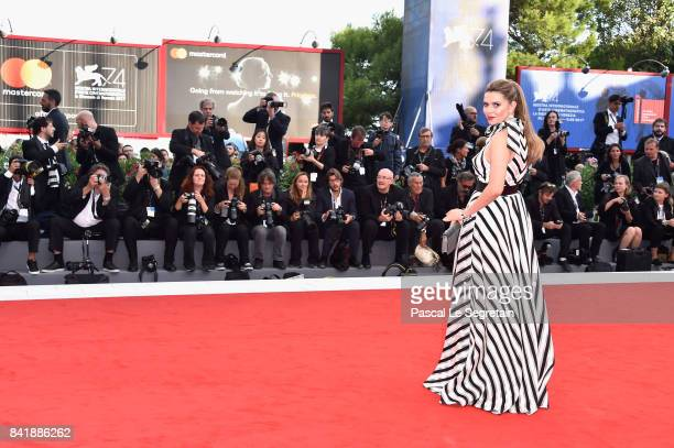Carly Steel walks the red carpet ahead of the 'Suburbicon' screening during the 74th Venice Film Festival at Sala Grande on September 2 2017 in...