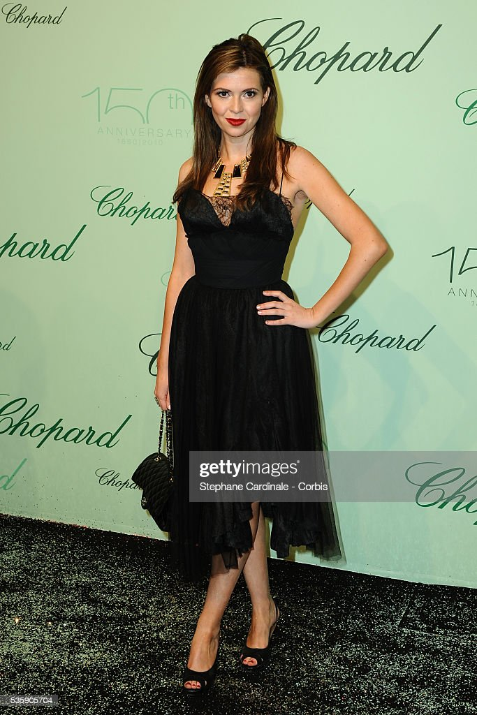 Carly Steeleat the 'Chopard 150th Anniversary Party' during the 63rd Cannes International Film Festival.