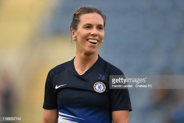 Carly Telford of Chelsea reacts prior to the Pre-Season friendly match between Israel National Team and Chelsea Women at Hamoshava Stadium on August...