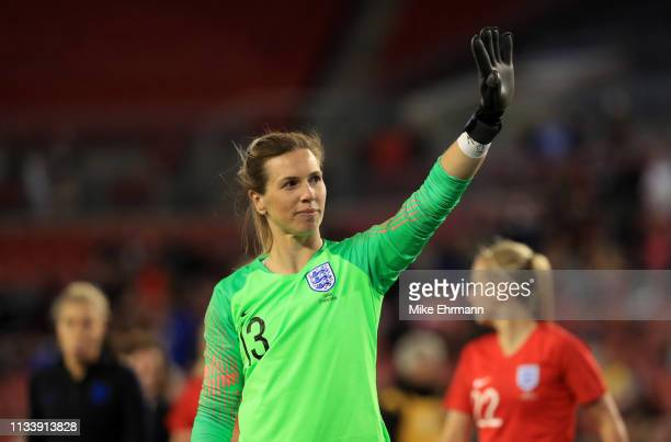 Carly Telford of England celebrates victory after the 2019 SheBelieves Cup match between England and Japan at Raymond James Stadium on March 05, 2019...