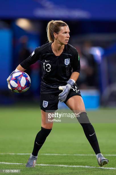 Carly Telford of England does passed during the 2019 FIFA Women's World Cup France Semi Final match between England and USA at Stade de Lyon on July...