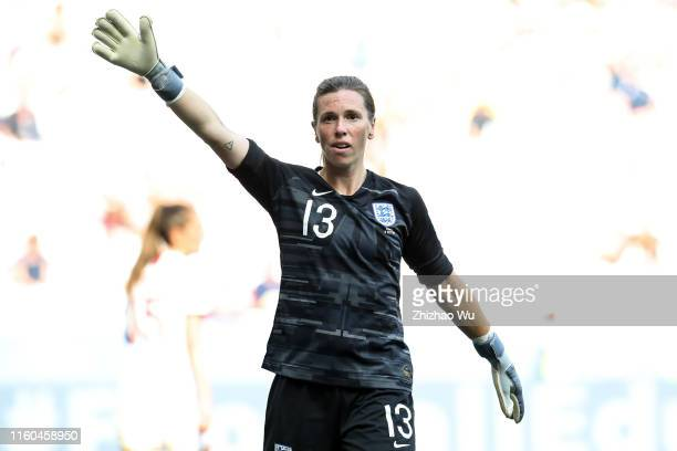 Carly Telford of England in action during the 2019 FIFA Women's World Cup France 3rd Place Match match between England and Sweden at Stade de Nice on...