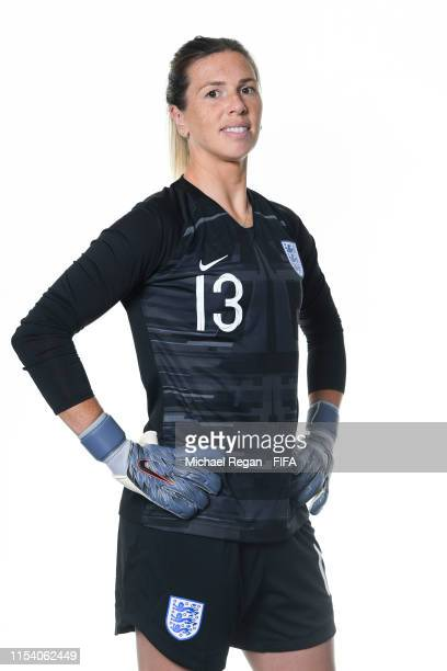 Carly Telford of England poses for a portrait during the official FIFA Women's World Cup 2019 portrait session at Radisson Blu Hotel Nice on June 06...