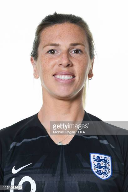 Carly Telford of England poses for a portrait during the official FIFA Women's World Cup 2019 portrait session at Radisson Blu Hotel Nice on June 06,...