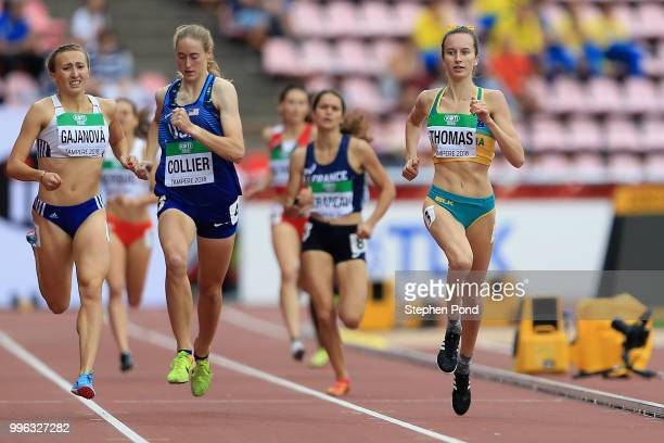Carly Thomas of Australia in action during heat 3 of the women's 800m semi final on day two of The IAAF World U20 Championships on July 11 2018 in...
