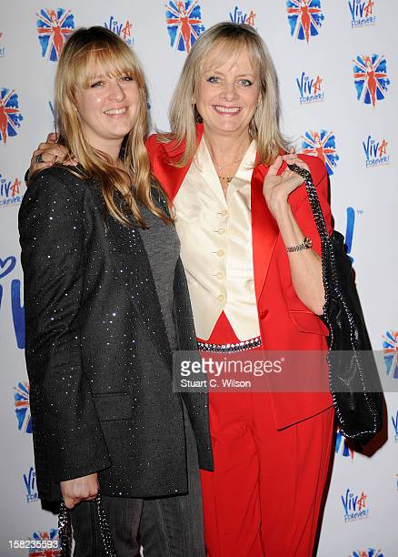 Carly Witney and Twiggy attend the after party for the press night of 'Viva Forever' a musical based on the music of The Spice Girls at Victoria...