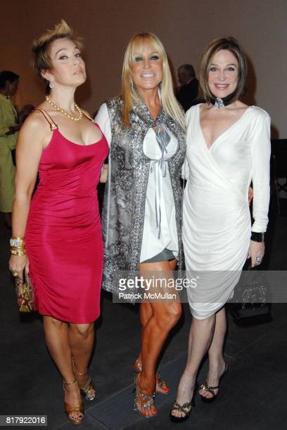 Carlye Samatas Suzanne Saperstein and Becca Cason Thrash attend Fashioning Fashion Private Dinner at the Los Angeles County Museum of Art Sponsored...