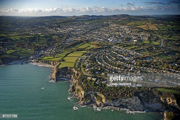 Carlyon Bay, Holmbush and St Austell on the southwest coastline in this aerial photo taken on 31st October 2008.