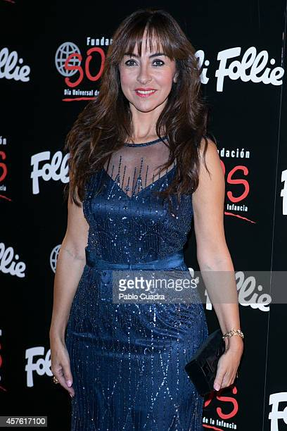 Carme Barcelo attends 'Folli Follie' new charity collection presentation on October 21 2014 in Madrid Spain