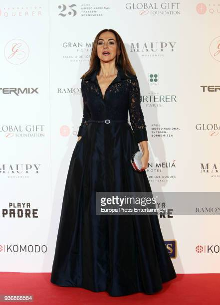 Carme Barcelo attends the Global Gift Gala 2018 presentation at the ThyssenBornemisza Museum on March 22 2018 in Madrid Spain