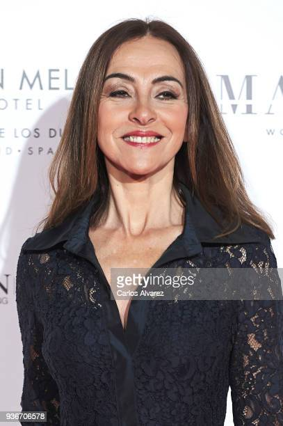Carme Barcelo attends The Global Gift Gala at the ThyssenBornemisza museum on March 22 2018 in Madrid Spain