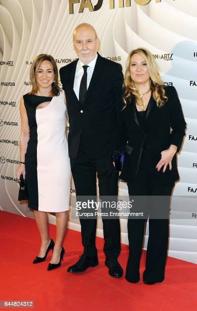 Carme Chacon and Marius Carol attend the 'Fashion arts' photocall at Reina Sofia museum on February 23 2017 in Madrid Spain