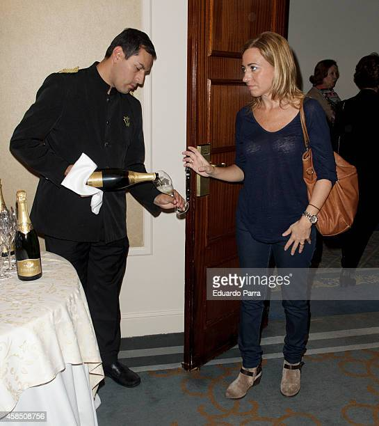 Carme Chacon attends Champagne awards 2014 at Wellington hotel on November 6 2014 in Madrid Spain