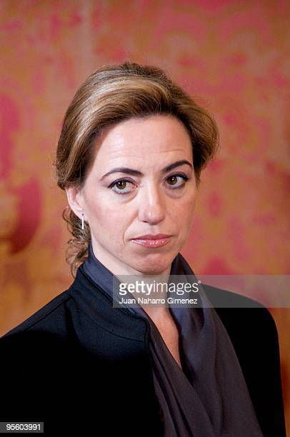 Carme Chacon attends 'Pascua Militar' at the Royal Palace on January 6 2010 in Madrid Spain