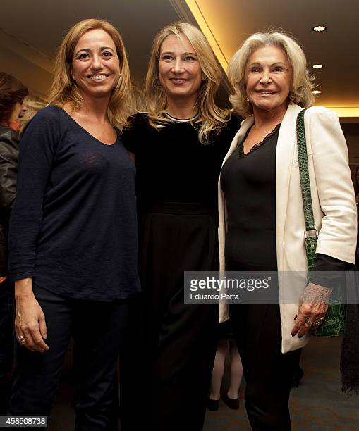 Carme Chacon Joana Bonet and Beatriz de Orleans attend Champagne awards 2014 at Wellington hotel on November 6 2014 in Madrid Spain