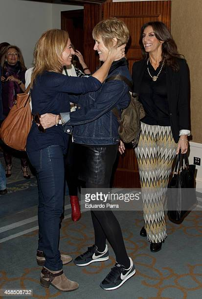 Carme Chacon Mercedes Mila and Pastora Vega attend Champagne awards 2014 at Wellington hotel on November 6 2014 in Madrid Spain