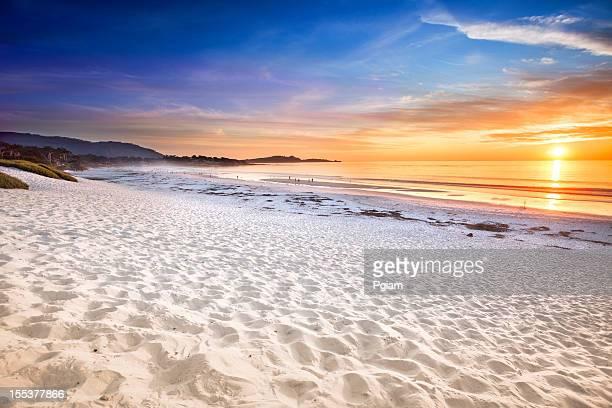 carmel beach in carmel-by-the-sea - carmel california stock photos and pictures