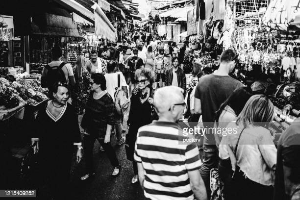 "carmel market in tel aviv, israel - ""peeter viisimaa"" or peeterv stock pictures, royalty-free photos & images"