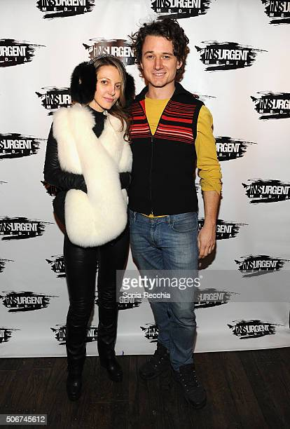 Carmel Petresco and Bobby Kennedy III attend the Donovan Leitch Performance at Sundance at Cisero's Bar on January 22 2016 in Park City Utah