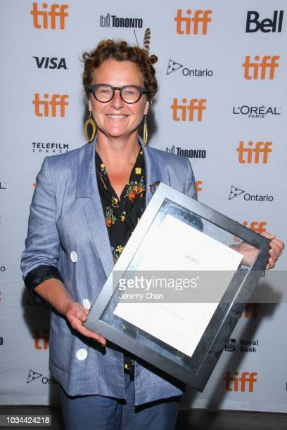 Carmel Winters poses with the Fipresci Discovery Award for 'Float Like a Butterfly' at the 2018 TIFF Awards Ceremony at TIFF Bell Lightbox on...