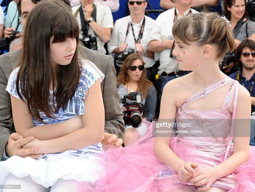 Carmela Culda and Ileana Puiu at the photocall for 'Aurora' during the 63rd Cannes International Film Festival.