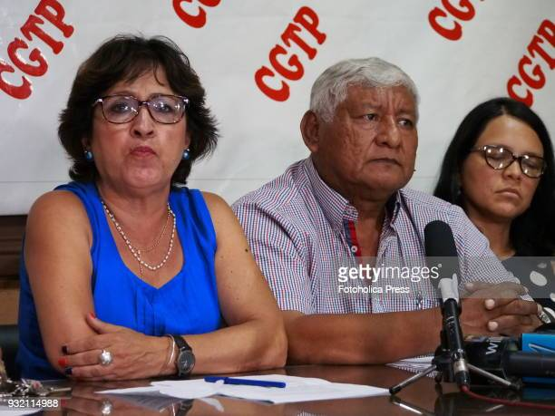 Carmela Sifuentes Manuel Coronado Anahi Durand and left political groups union leaders and activist organizations announced at the headquarters of...