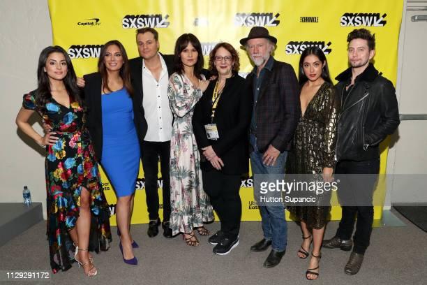 Carmela Zumbado, Alex Meneses, Zachary Cotler, Magdalena Zyzak, SXSW Film director Janet Pierson, Xander Berkeley, Marisol Sacramento, and Jackson...