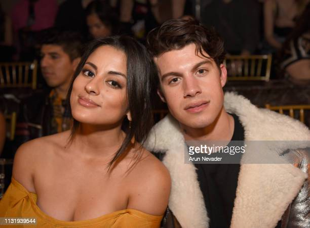 Carmela Zumbado and Andrew Matarazzo at Los Angeles Fashion Week FW/19 Powered by Art Hearts Fashion at The Majestic Downtown on March 21 2019 in Los...