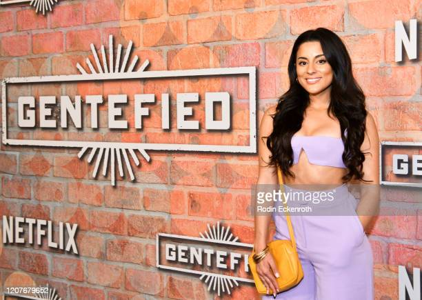 Carmela Zumbado attends the premiere of Netflix's Gentefied at Plaza de la Raza on February 20 2020 in Los Angeles California
