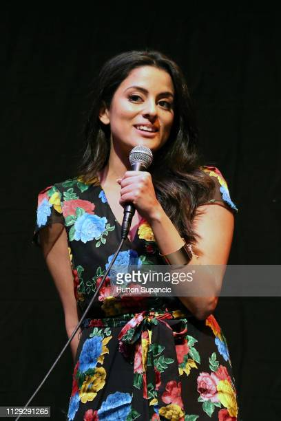 Carmela Zumbado speaks onstage at The Wall of Mexico during the 2019 SXSW Conference and Festivals at Stateside Theatre on March 8 2019 in Austin...