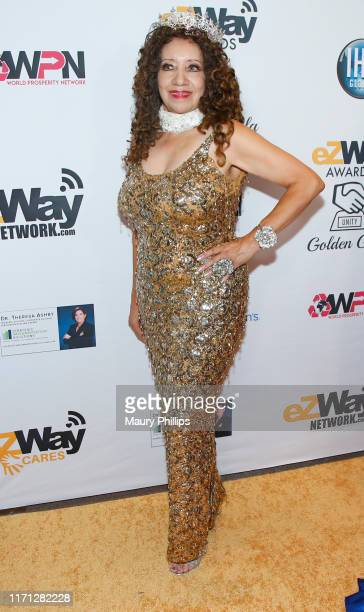 Carmelita Pittman attends the eZWay Awards Golden Gala at Center Club Orange County on August 30 2019 in Costa Mesa California