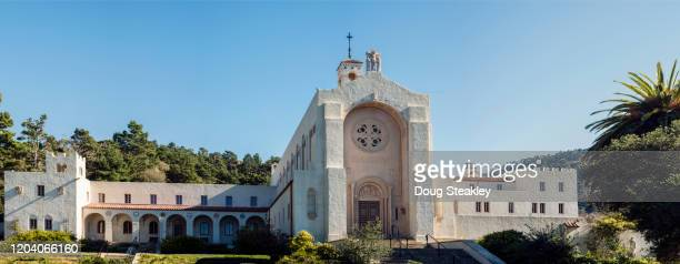 carmelite monastery in carmel, california - carmelite order stock pictures, royalty-free photos & images