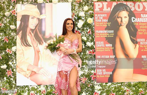 Carmella DeCesare was named Playboy's Playmate of the Year 2004 at the Playboy Mansion DeCesare of Cleveland won $100000 cash a Mazda RX8 car and a...