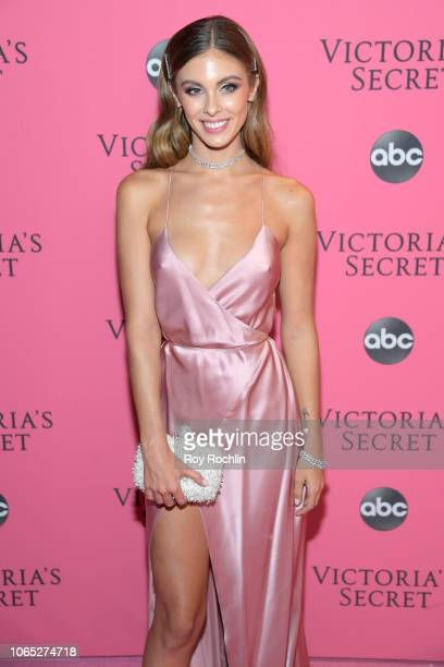 Carmella Rose attends the 2018 Victoria's Secret Fashion Show at Pier 94 on November 08 2018 in New York City