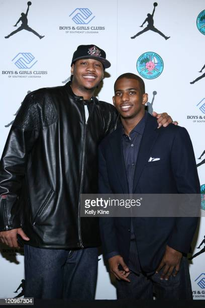 Carmelo Anthony and Chris Paul make an appearance as Jordan Brand donates $500000 to the Slidell Boys and Girls Club to construct a new gymnasium